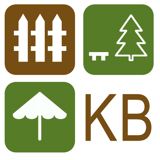 One of the logos at KB Backyard Depot