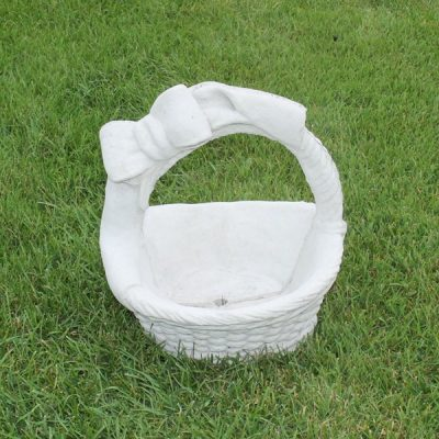 Basket with a bow