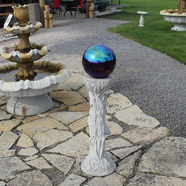 Gazing Globe on Stand Concrete Garden Supply