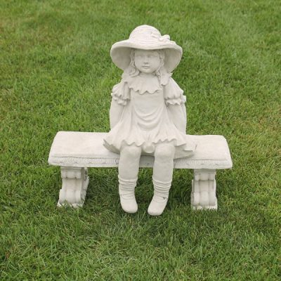 Country Girl with Bench