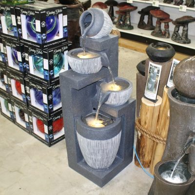Grey Multi Level Fiberglass Water Fountain