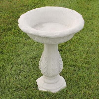 Tobacco Leaf Bird Bath