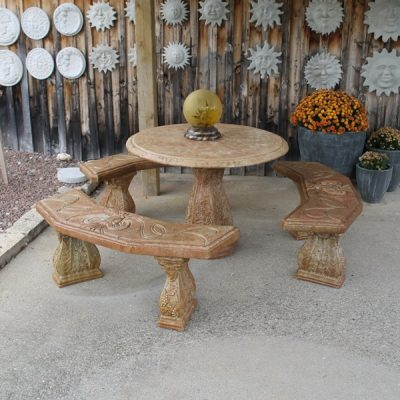 Ram Table with 3 Benches