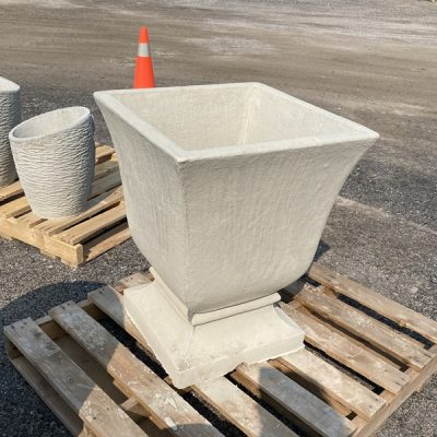 Brute Square Flared Vase